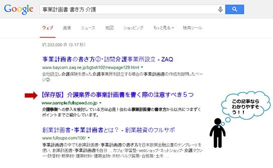 コンテンツSEOを導入前の検索結果イメージ