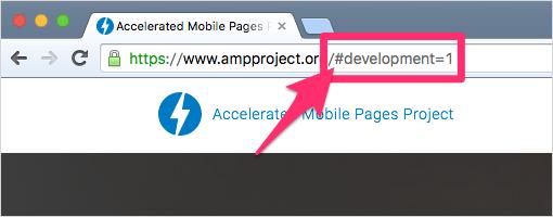 URLの末尾に「#development=1」と入力したところ
