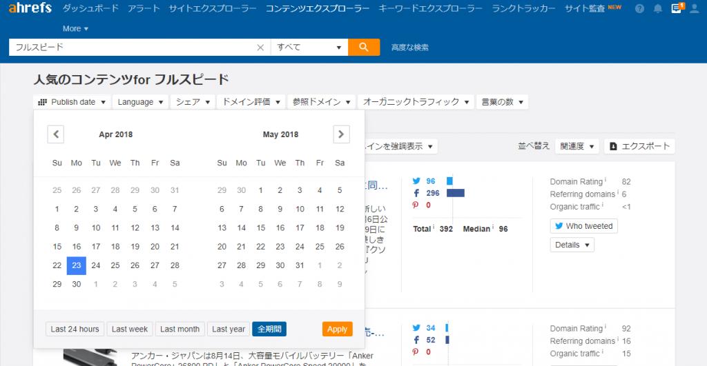 08-2018年4月版-Ahrefsの「コンテンツエクスプローラー」の使い方-期間指定